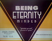 Being Eternity Minded